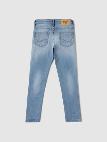Boys Light Blue Low Rise Ben Skinny Fit Jeans