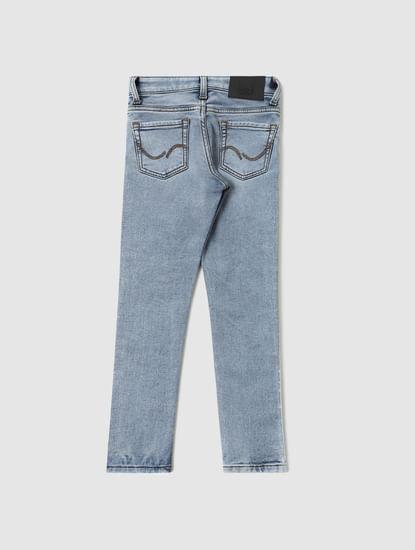 Boys Light Blue Low Rise Ben Tape Detail Skinny Fit Jeans