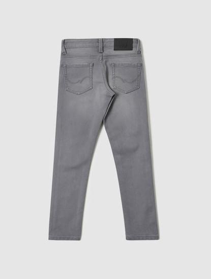 Boys Grey Low Rise Ben Skinny Fit Jeans