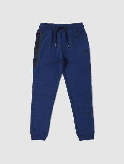 Junior Dark Blue All Over Print Sweatpants