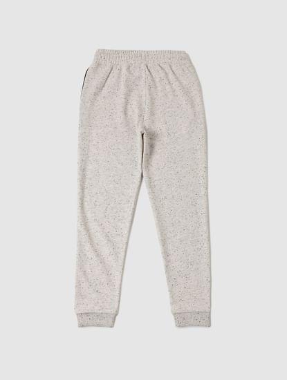 Boys White All Over Print Sweatpants