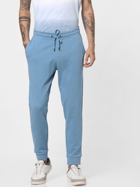 Blue Drawstring Sweatpants