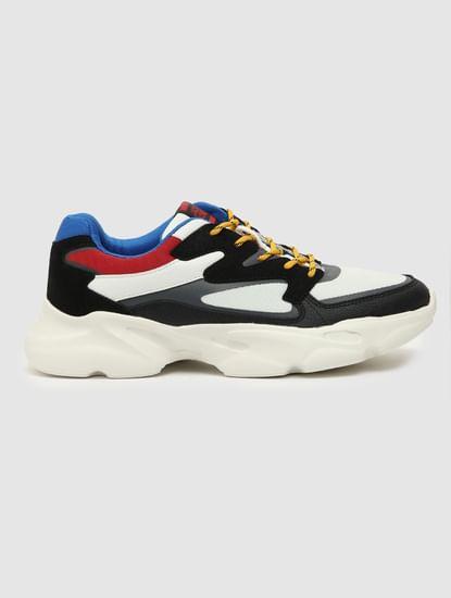 Black Colourblocked Sneakers