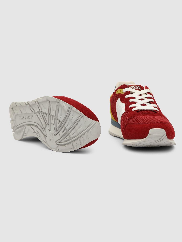 Buy Men Red Mesh Detail Sneakers online