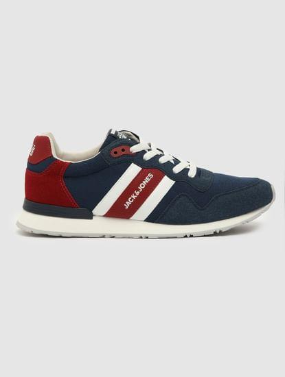 Blue Mesh Detail Sneakers