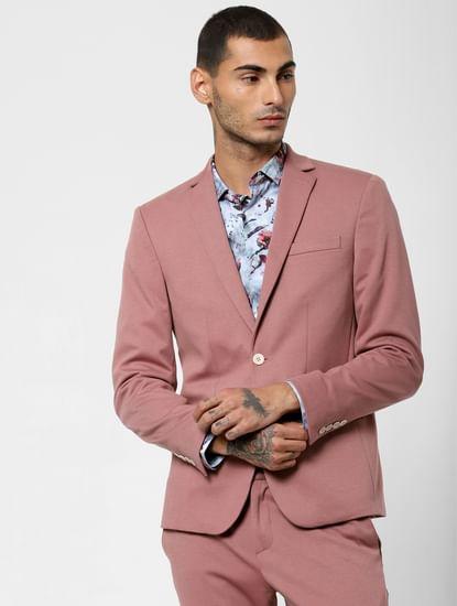 Pink Double Button Blazer