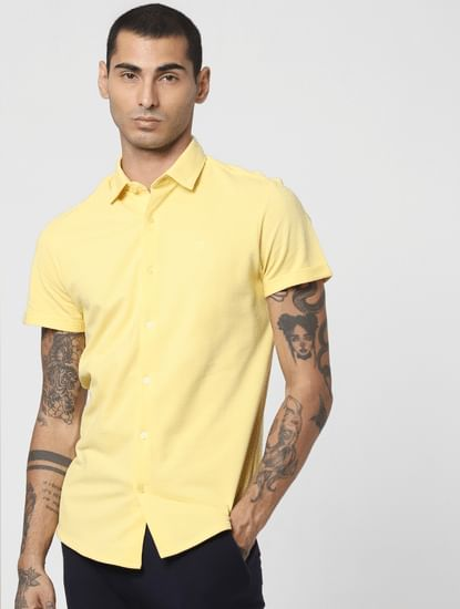 Yellow Short Sleeves Shirt