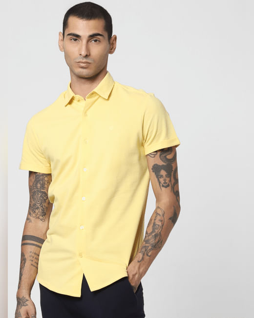 Yellow Short Sleeves Shirt