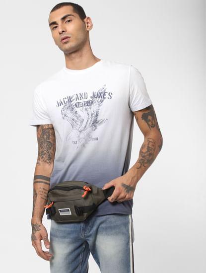 White Ombre Crew Neck T-shirt