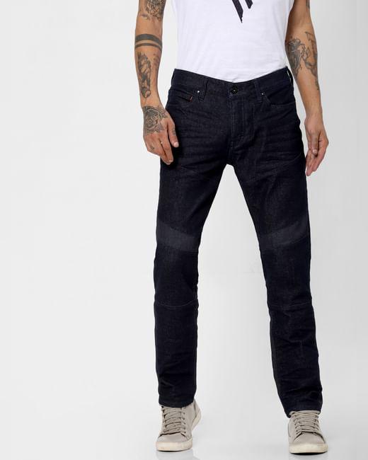 Dark Blue Low Rise Shining Armour Tim Slim Jeans