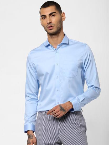 Light Blue Full Sleeves Shirt