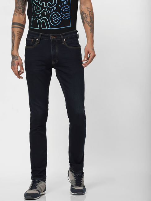 Dark Blue Low Rise Ben Skinny Fit Jeans