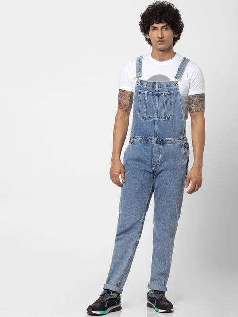 Light Blue Washed Dungarees