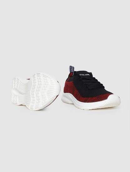 Red Mesh Sneakers