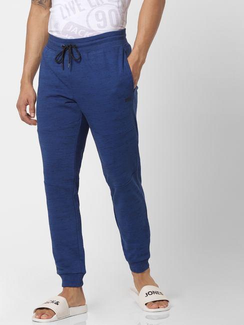 Blue Mid Rise Drawstring Sweatpants