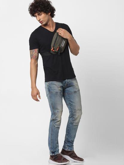 Light Blue Mid Rise Simon Anti Fit Jeans