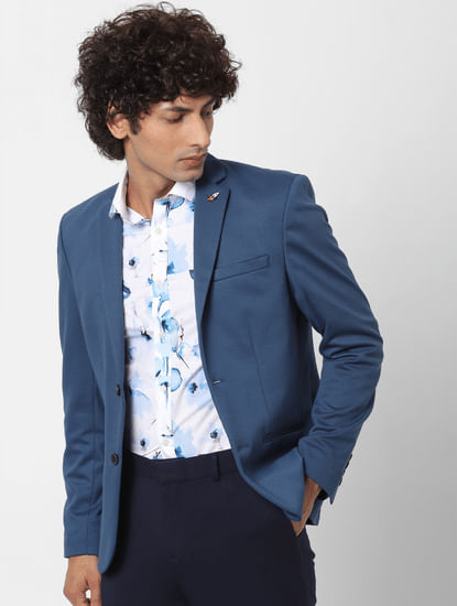 White All Over Floral Print Full Sleeves Shirt
