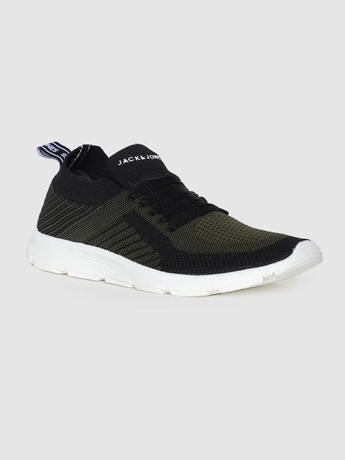 Black Self-Design Sneakers