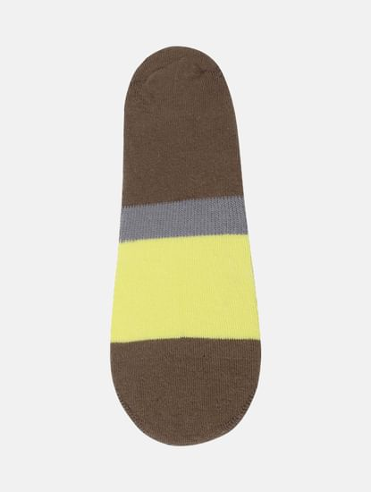 Pack of Two Colourblocked No Show Socks