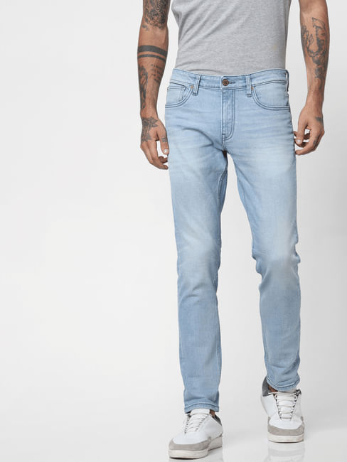 Light Blue Low Rise Glenn Slim Fit Jeans