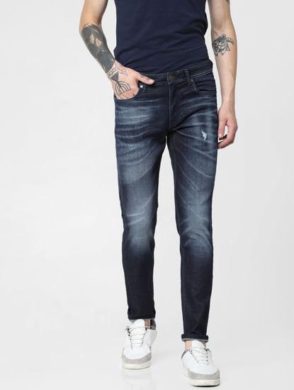Dark Blue Low Rise Glenn Slim Fit Jeans