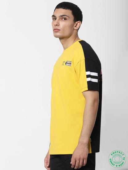 X PAC-MAN Yellow Graphic Print Crew Neck T-shirt