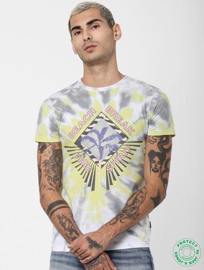 White Tie Dye Crew Neck T-shirt