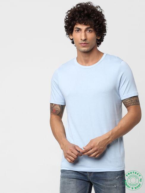 Cashmere Blue Crew Neck T-shirt