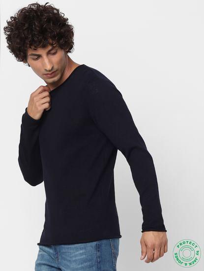 Dark Blue Knit Pullover