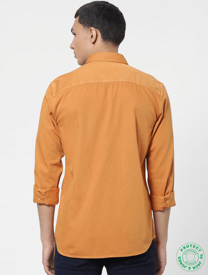 Orange Full Sleeves Shirt