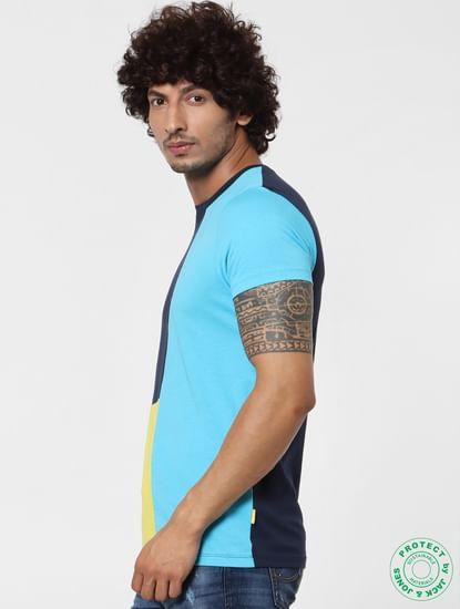Multi-Coloured Colourblocked Crew Neck T-shirt
