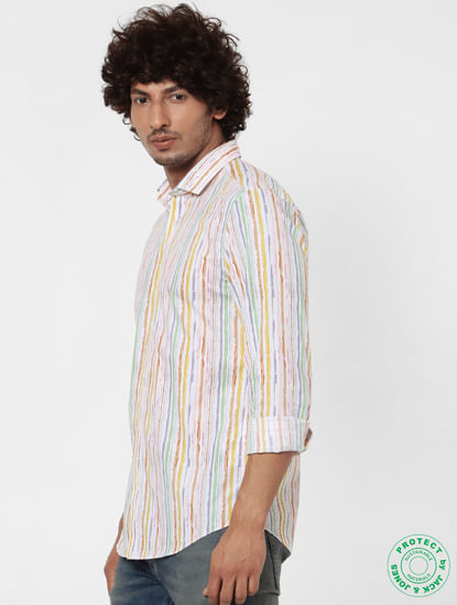 Multi-coloured Full Sleeves Striped Shirt