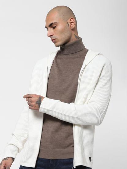 Grey Turtleneck Pullover