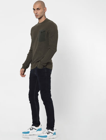 Green Patch Pocket Pullover