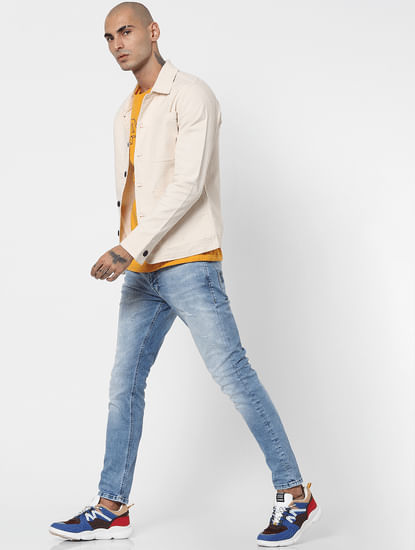 Blue Low Rise Liam Skinny Fit Jeans
