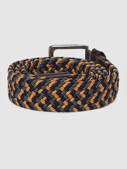 Multi-Coloured Braided Belt