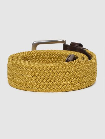 Mustard Yellow Braided Belt