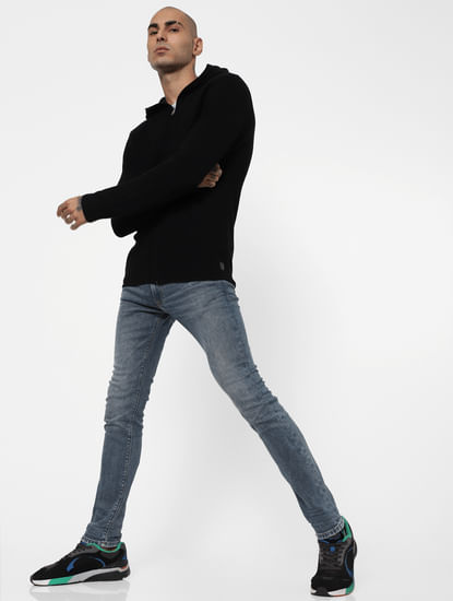 Blue Low Rise Washed Liam Skinny Jeans