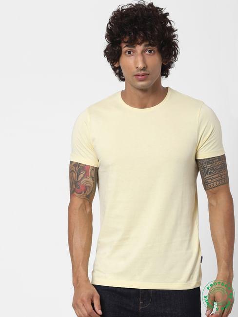 Light Yellow Crew Neck T-shirt