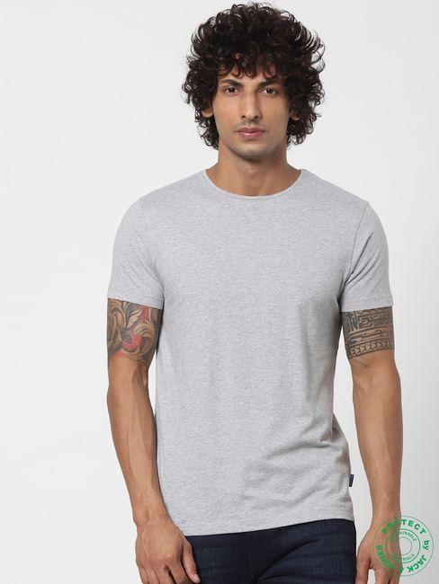 Grey Crew Neck T-shirt