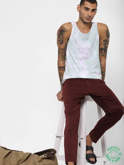 White Tie-Dye Print Vest