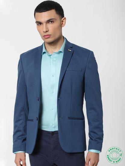 Turquoise Blue Full Sleeves Shirt