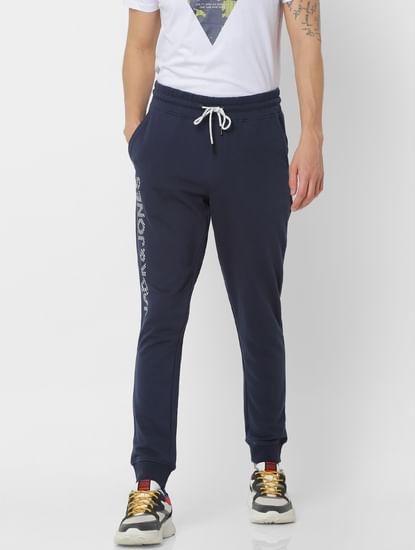 Blue Mid Rise Sweatpants