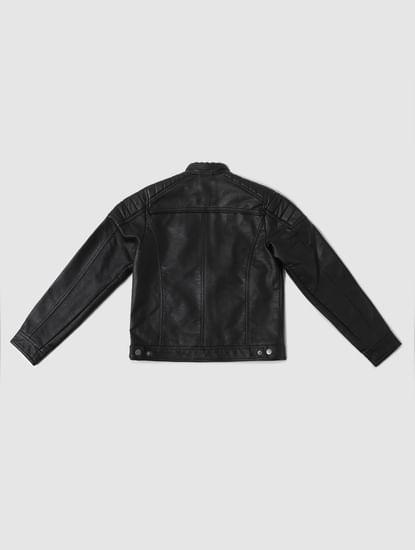 Boys Black Biker Jacket