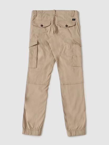 Boys Beige Low Rise Pants