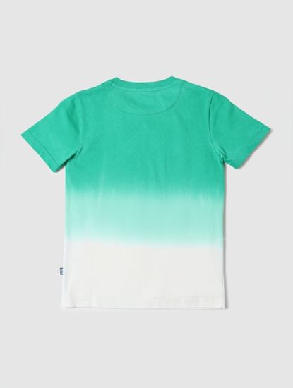 BOYS X ANIMAL PLANET Green Ombre Graphic Crew Neck T-shirt