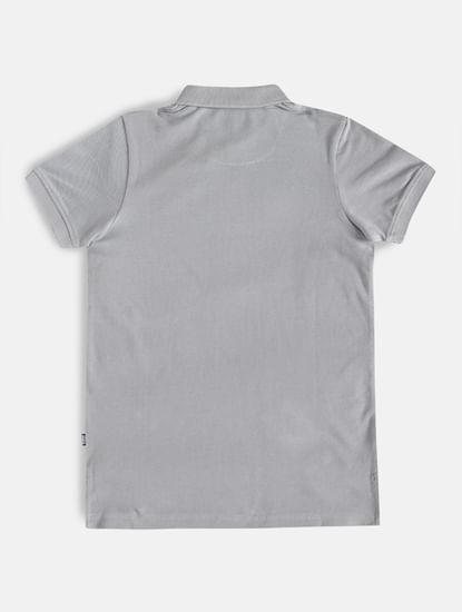 Boys Grey Polo Neck T-shirt
