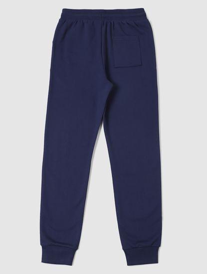 Boys Blue Logo Print Sweatpants