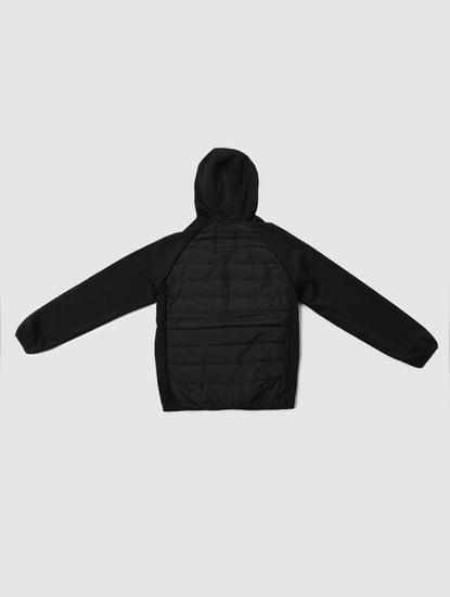 Boys Black Hooded Puffer Jacket