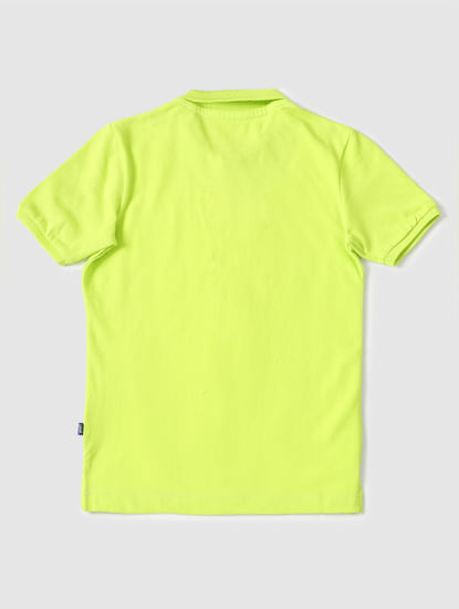 Boys Lemon Yellow Polo Neck T-shirt
